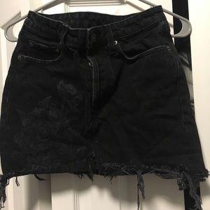 Carmar black denim mini skirt